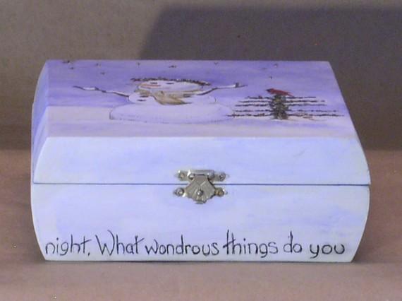 winter snowman keepsake box