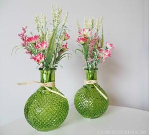 Green glass vase ~ $2.79ea