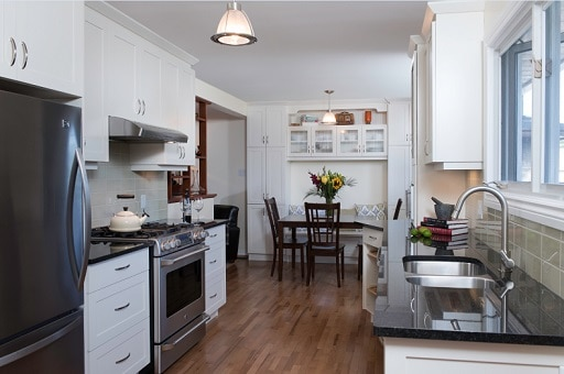 Galley Kitchen Eating Area