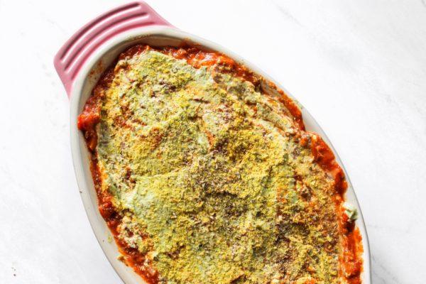 Plant based vegan lasagna recipe