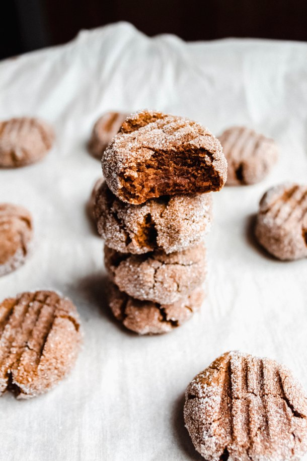 Pumpkin Paleo Ginger Sparkle Cookies