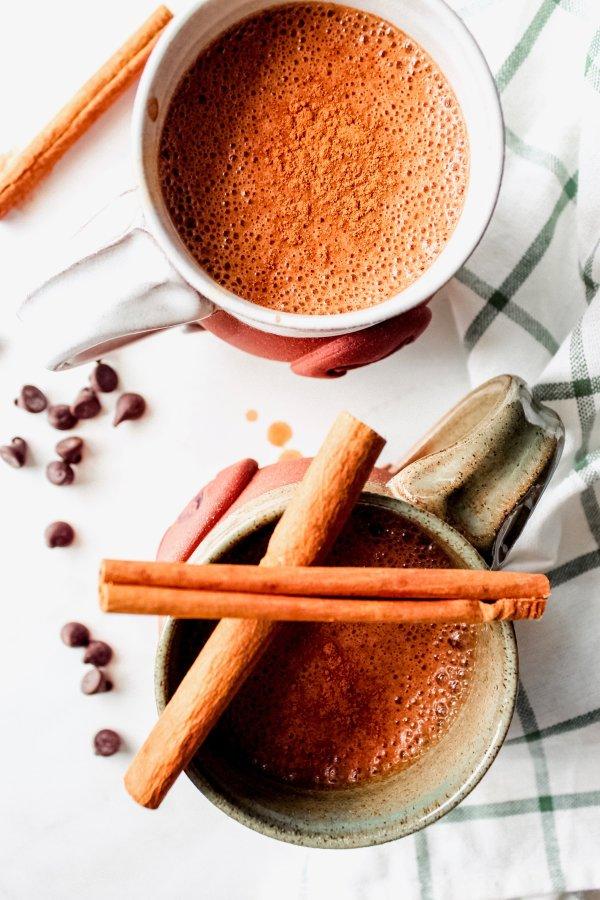 Pumpkin Spiced Hot Chocolate [Paleo, Whole-30, Vegan & Keto options]