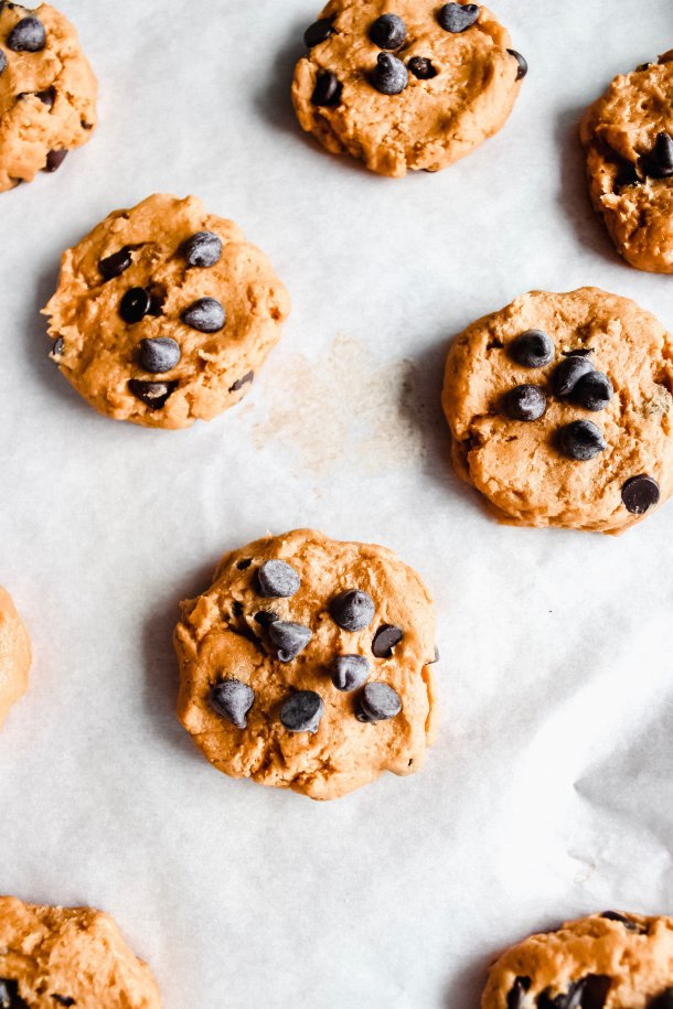 Gluten-Free Pumpkin Chocolate Chip Cookies [Dairy-Free & Sugar-Free]