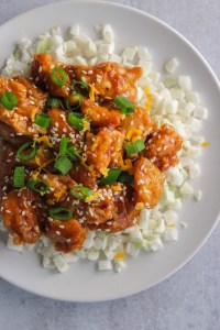 healthy crispy orange chicken