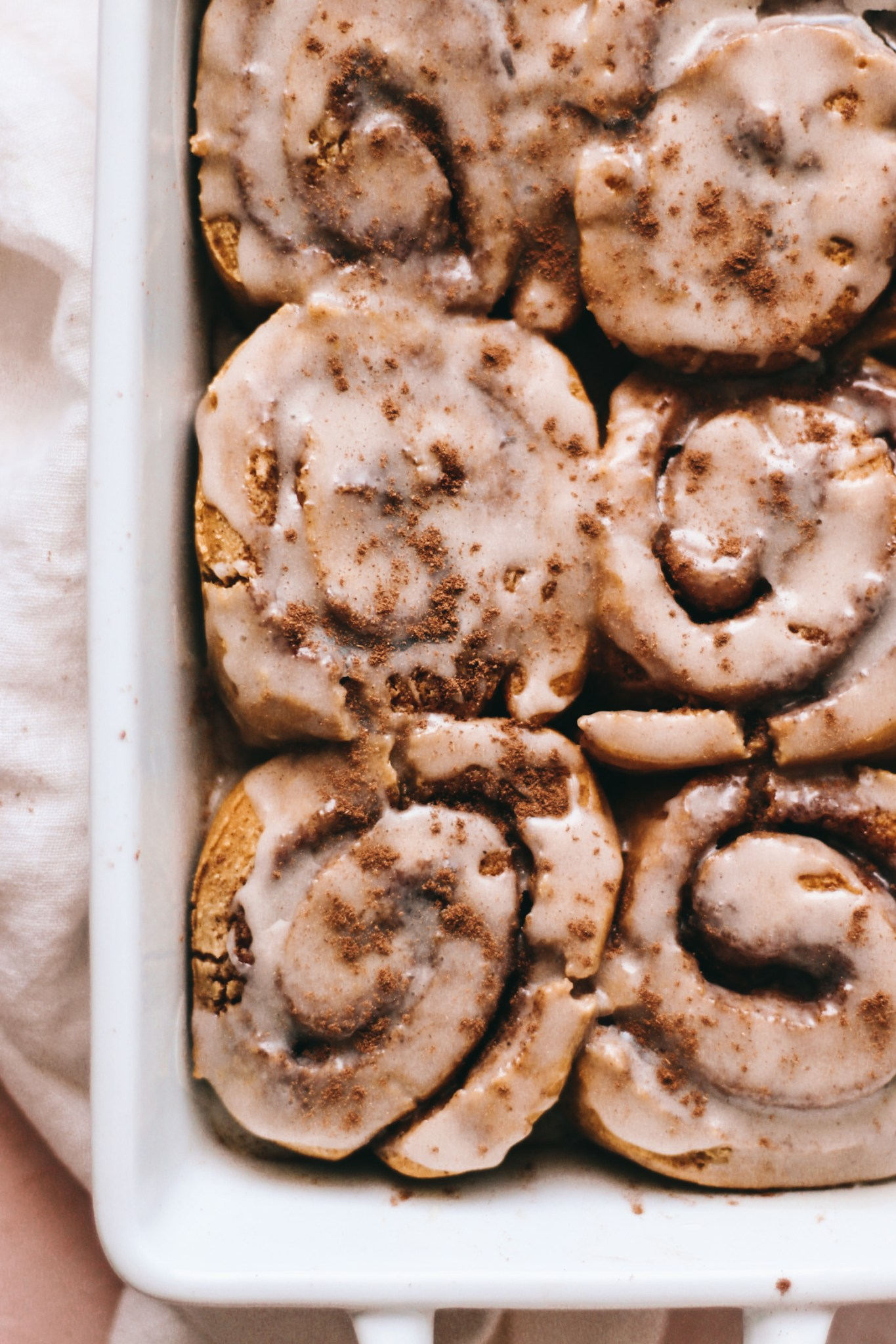 Gluten-free pumpkin cinnamon rolls