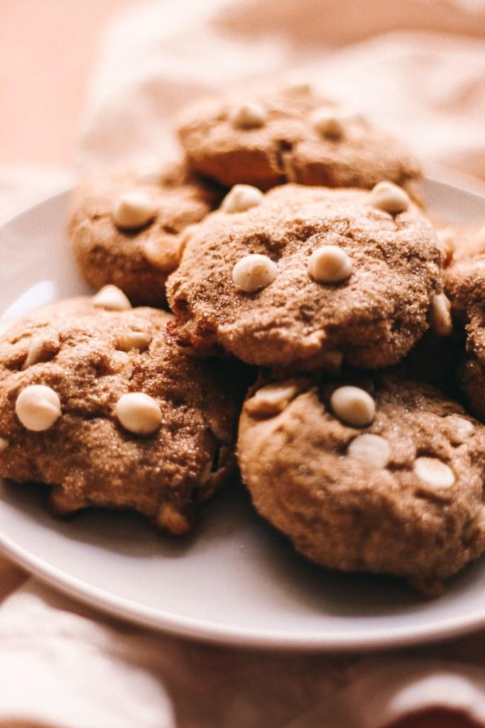 Gluten-Free White Chocolate Pumpkin Snickerdoodles