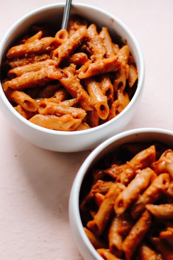 One Pot Pumpkin Curry Pasta