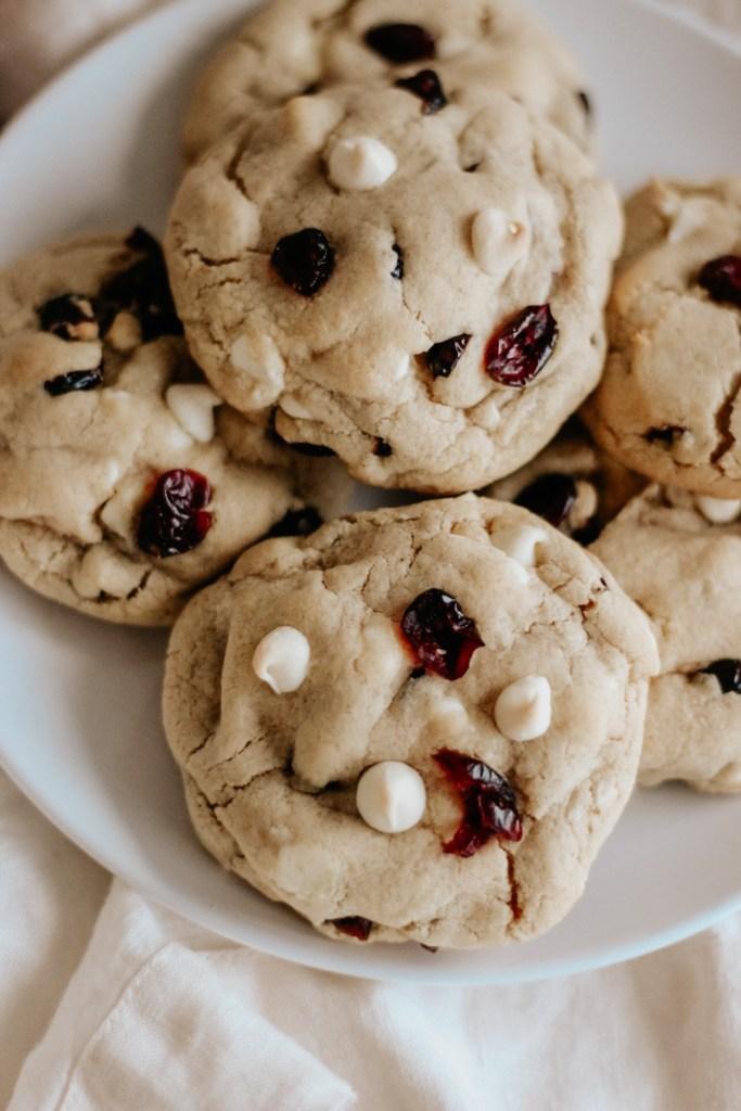Gluten Free White Chocolate Cranberry Cookies