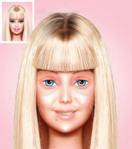 Barbie sans maquillage