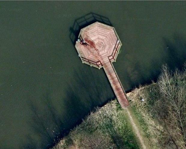 L'étrange image satellite en question