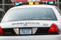 Une voiture de police de Minneapolis