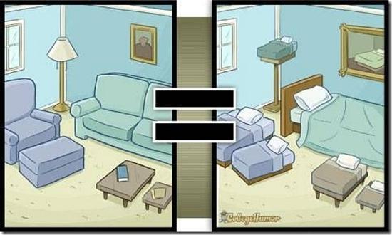 Vous pensez que tous vos meubles sont des endroits où vous pouvez dormir