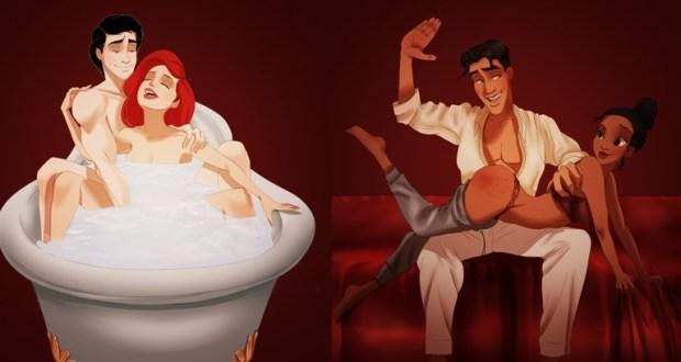 """Des couples Disney refont les scènes de """"50 nuances de Grey"""" en images"""