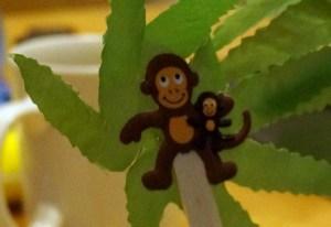 Palmier et singes