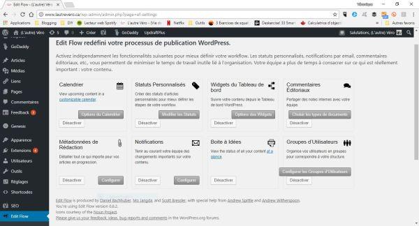 calendrier éditorial edti flow extension plugin WordPress