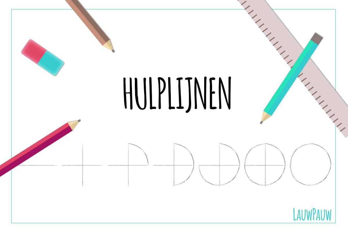 Hoe maak je gebruik van hulplijnen als je tekent?