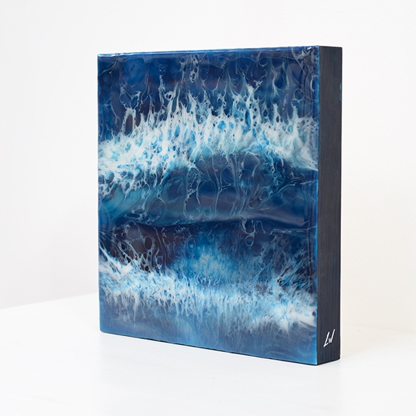 The Big Storm – Resin on wood panel
