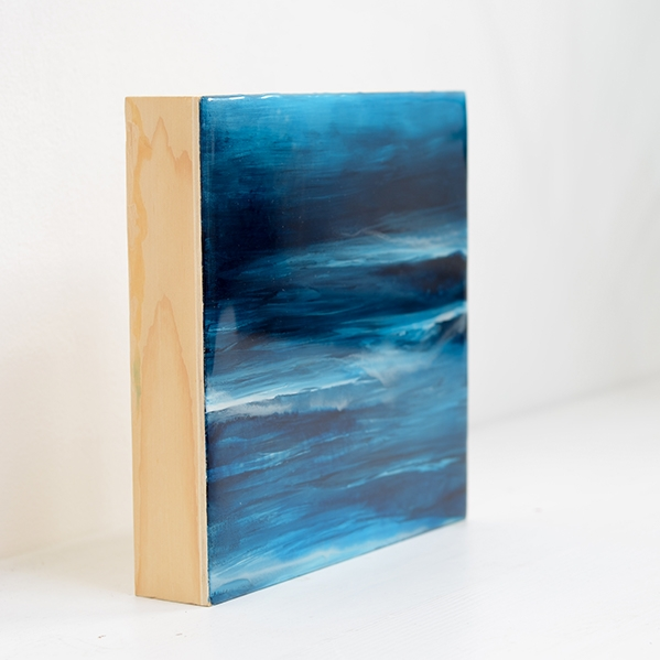 Reef – resin on wood panel