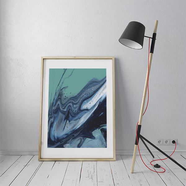 abstracte oceaan poster