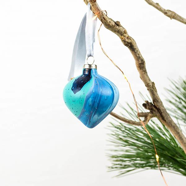 Kerstbal terracotta nr. 1