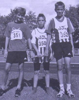 3x1000m Staffel Cecil Carl, Justin Schröter, Ole Harms