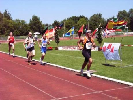 1500m Lauf in der 2. Runde