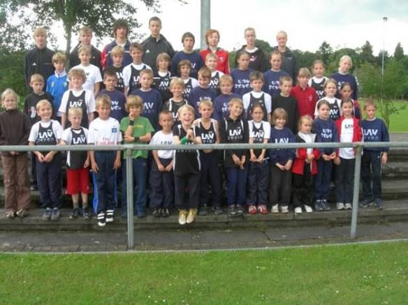 Foto: Die Zevener Teilnehmer bei den Kreismeisterschaften in Rotenburg