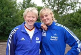 Petra Lammert und Denise Hinrichs, beide vom SC Neubrandenburg