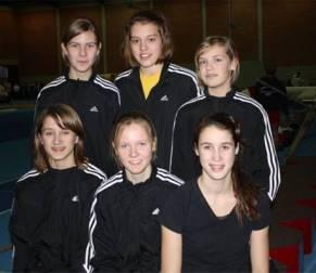 v.l.n.r.: vorne Sarina Holsten, Mareike Schuster, Chantal Raas,  Hinten von links: Milena Peper, Magdalena Swensson, Lara Gerken