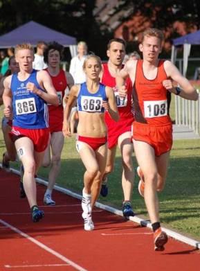 Jana Sussmann  (363) im 1500m Zeitlauf