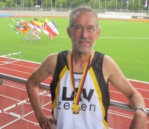 Deutscher Meister M65 über 800m Detlef Wickmann