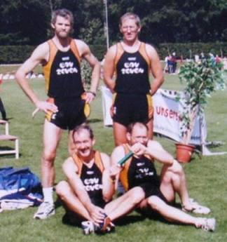 Nordd. Meisterschaften in Hamburg 2.Platz 4x100m M40 Maxin,Umann,Meier,Hickisch