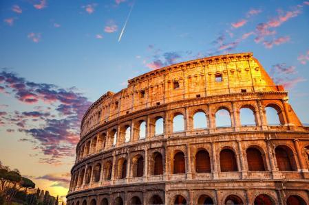El Coliseo en Roma, recinto de lucha de gladiadores
