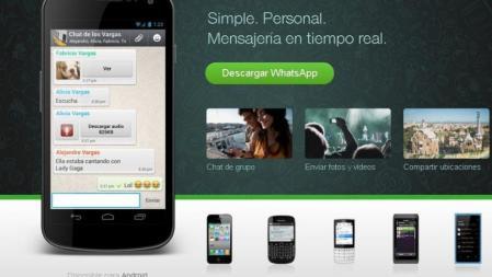 Whatsapp está disponible en distintas plataformas móviles y sistemas operativos como iOS, Windows, Blackberry, Android y Symbian