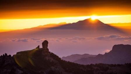 Imagen del Roque Nublo de Tejeda (Canarias)
