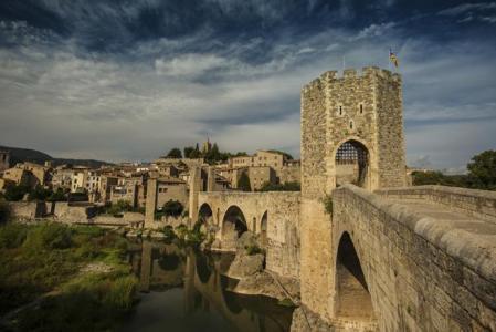 El pueblo medieval de Besalú en Girona