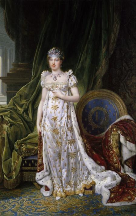 Retrato de María Luisa de Austria, madre de Napoleón II.
