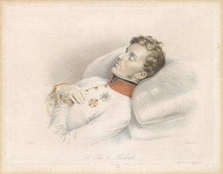 Retrato mortuorio del joven Napoleón II.