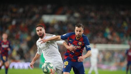Classic Real Madrid Fc Barcelona at the Bernabeu Jordi Alba