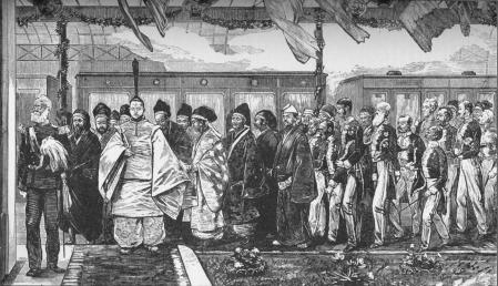 Primer ferrocarril en Japón, en 1872, solo 4 años después de la caída del shogunato