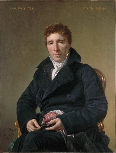 Emmanuel Joseph Sieyès, por Jacques Louis David.