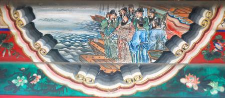 Cao Cao leyendo un poema antes de la batalla de Chibi en el palacio de Verano en Pekin