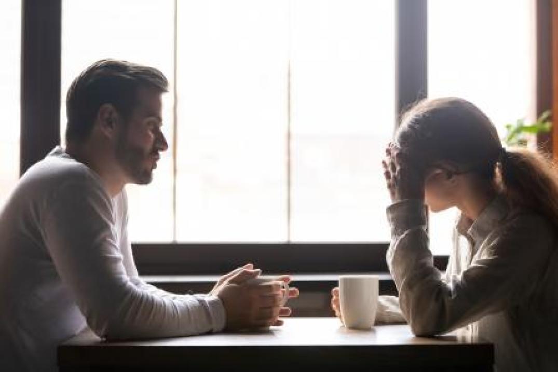 Homosexual couple having a family crisis
