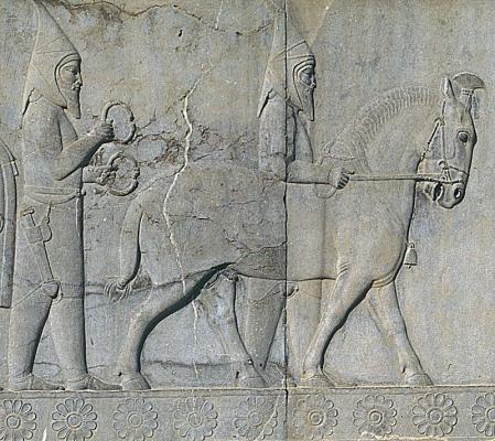Delegación escita en un relieve en Persépolis.