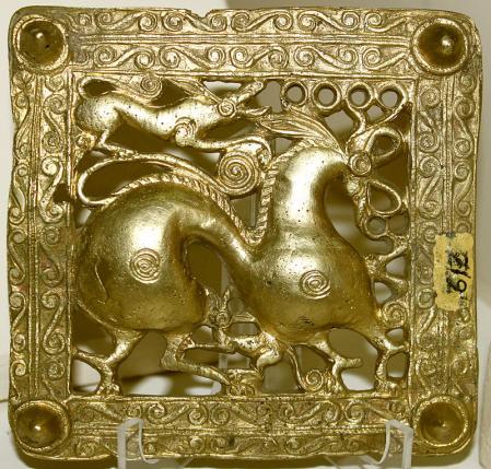Placa de cinturón de oro escita