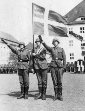 Unidad de las Waffen-SS de voluntarios daneses en 1941. Foto: Wikimedia Commons / Bundesarchiv, Bild 101III-Weill-096-27 / Weill / CC-BY-SA 3.0.