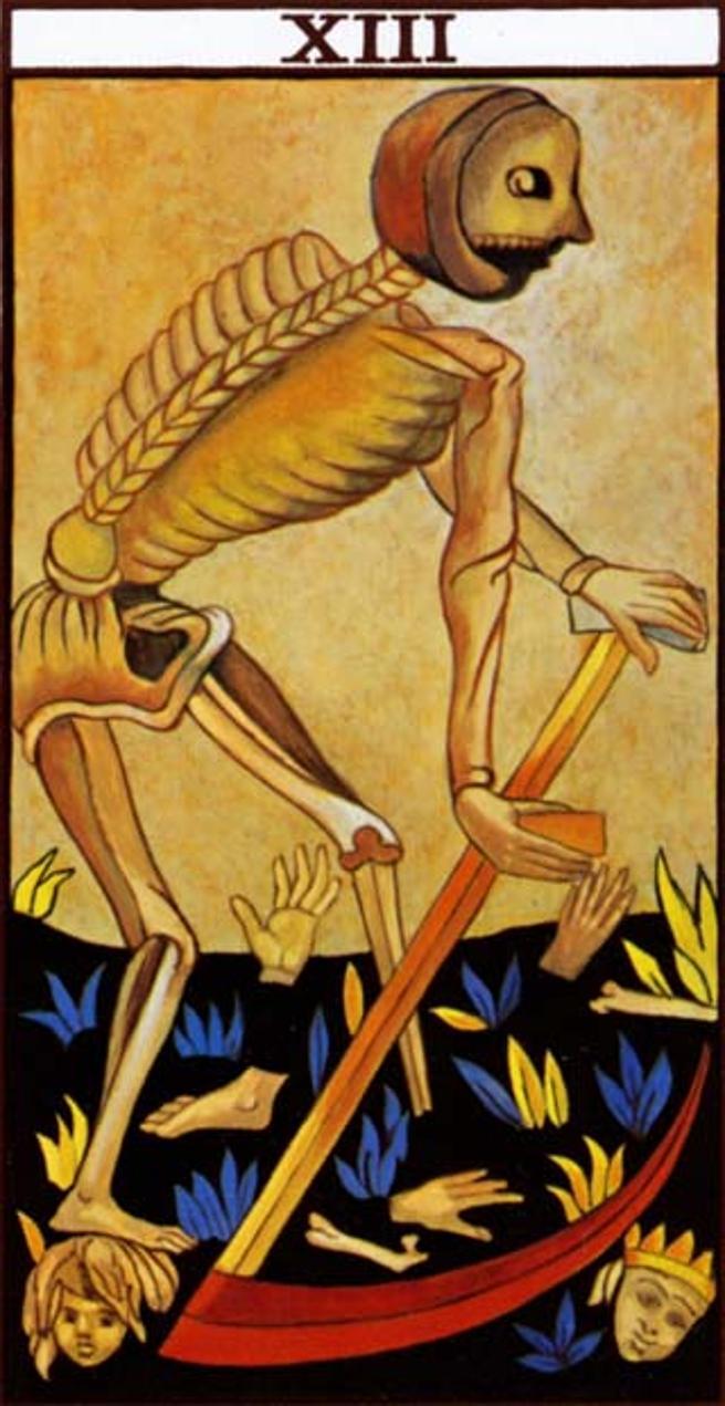 Carta XIII del Tarot, la muerte