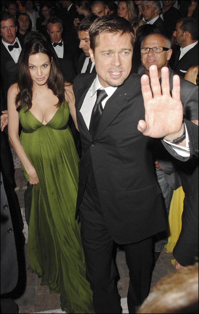 Brad y Angelina (embarazada) en la presentación de 'Kung Fu Panda' en 2008