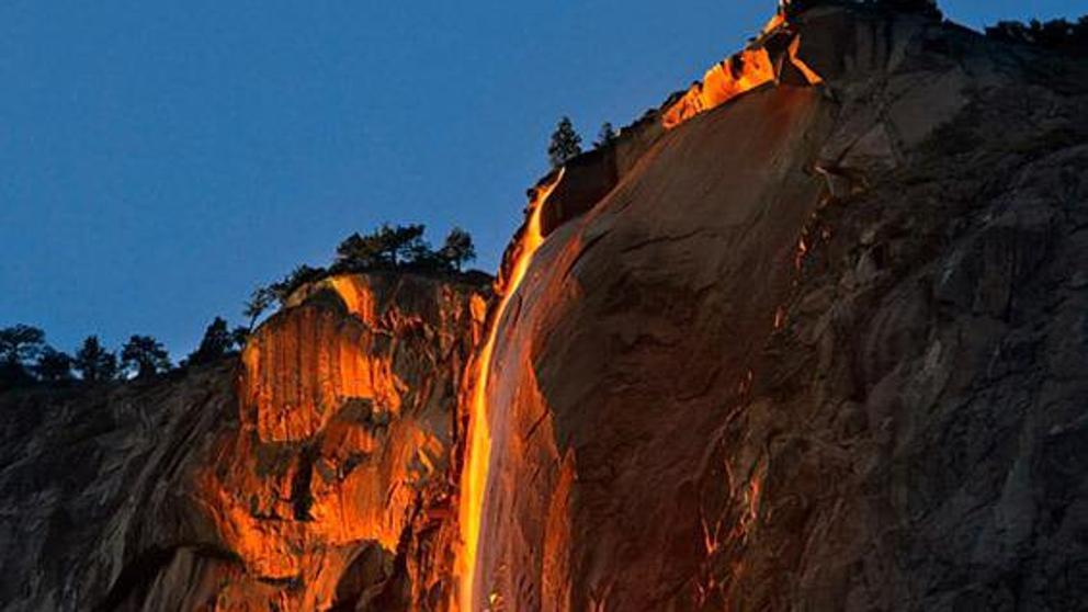 Yosemite Lava Falls Wallpaper La Incre 237 Ble Cascada De Fuego Del Parque Nacional Yosemite