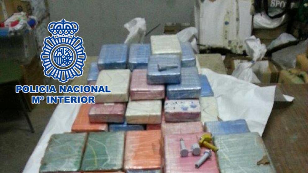 La policía incauta 150 kilos de cocaína dirigidos a España